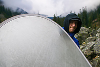 John McElhatton (Photo Assistant)at Snoqualmie Pass, Washington.