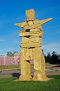 Inukshuk in the village<br /> Hay River<br /> Northwest Territories<br /> Canada