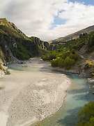 A jet boat landing site on the Shotover River for Skipper's Canyon Jets, near Queenstown, Otago, New Zealand