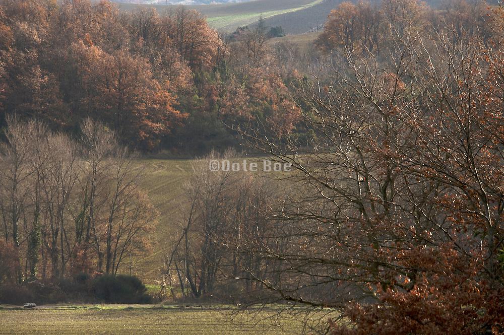 rural landscape during late autumn France Languedoc Aude Razes