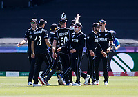 Cricket - 2019 ICC Cricket World Cup - Group Stage: England vs. NZ<br /> <br /> Mitchell Satner of New Zealand catches from Matt Henry of New Zealand to put out Ben Stokes of England, at the Riverside, Chester-le-Street, Durham.<br /> <br /> COLORSPORT/BRUCE WHITE