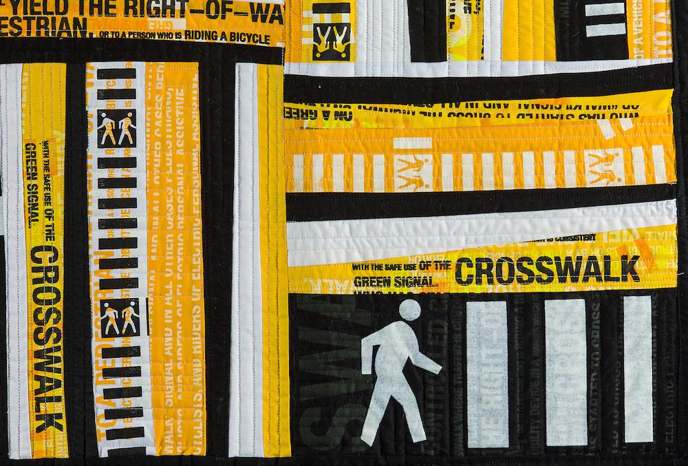 Fabric quilt by Steven Driscoll Hixson