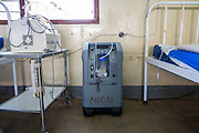 The oxygen concentrator machine supplied by VSO to the NICU (Neonatal Intensive Care Unit) Ward. St Walburg's Hospital, Nyangao. Lindi Region, Tanzania.