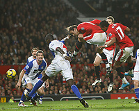Photo: Steve Bond/Richard Lane Photography. Manchester United v Blackburn Rovers. Barclays Premiership 2009/10. 31/10/2009. Dimitar Berbatov goes close with a downward header