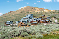 Standard Consolidated Mining Company Stamp Mill at Bodie State Historic Park near Highway 395 in the Eastern Sierra of California.
