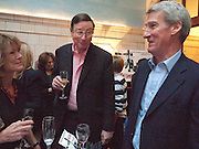 SIR MAX HASTINGS; JEREMY PAXMAN, Special preview screening of the Ghost. Introduced by the book's author Robert Harris. The Courthouse Hotel Great Marlborough St. London. 30 March 2010.