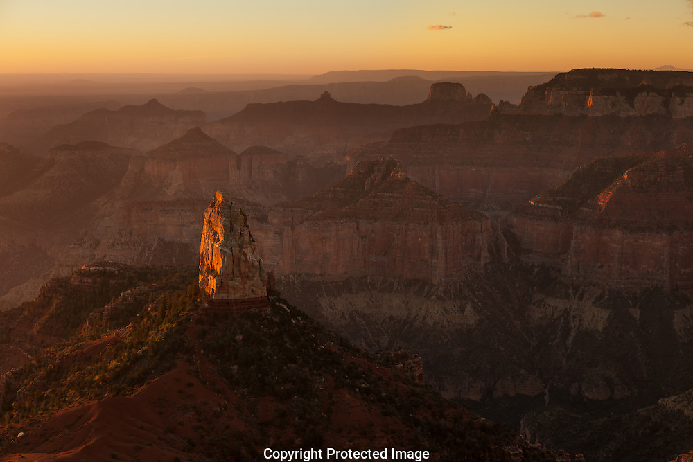 Mount Hayden, sunrise, North Rim, Grand Canyon, AZ