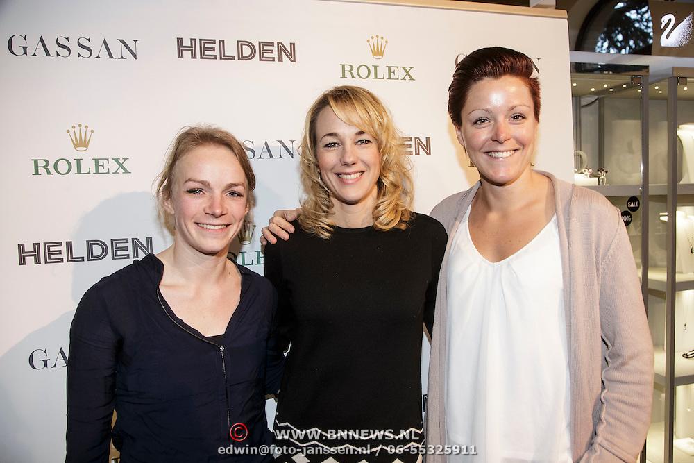 NLD/Amsterdam/20150202 - Presentatie sportblad Helden 25, Thijsje Oenema, Marianne Timmer en Jorien ter Mors