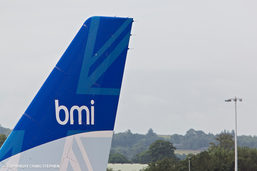 BMI tail fin at Edinburgh airport