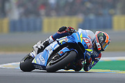 #42 Alex Rins, Spanish: Team Suzuki Ecstar during racing on the Bugatti Circuit at Le Mans, Le Mans, France on 19 May 2019.