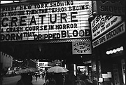 Outside a movie theatre on 42nd street New York, USA, 1980