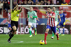 27.10.2013, Estadio Vicente Calderon, Madrid, ESP, Primera Division, Atletico Madrid vs Real Betis, 10. Runde, im Bild Atletico de Madrid's Koke (R) // Atletico de Madrid's Koke (R) during the Spanish Primera Division 10th round match between Club Atletico de Madrid and Real Betis at the Estadio Vicente Calderon in Madrid, Spain on 2013/10/28. EXPA Pictures © 2013, PhotoCredit: EXPA/ Alterphotos/ Victor Blanco<br /> <br /> *****ATTENTION - OUT of ESP, SUI*****