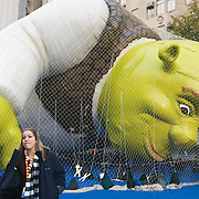Macy's 2007 Thanksgiving Day Parade - Shrek Balloon Being Blown up the Day Prior to Thanksgiving on West 81st Street and Central Park West