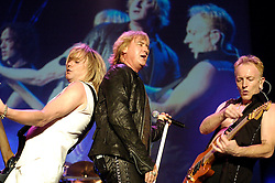 Def Leppard play thier home town of Sheffield at the Hallam FM Arena one of only two UK dates - Rick Savage Joe Elliott & Phil Collen.17 June 2006.Copyright Paul David Drabble