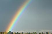 Rainbow, Rain, Clouds, Light, Sky, Sun, Sunrise, Sunset, Salmon, Idaho