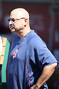 ANAHEIM, CA - AUGUST 21:  Terry Francona #17 manager of the Cleveland Indians looks on from the dugout before the game against the Los Angeles Angels of Anaheim on Wednesday, August 21, 2013 at Angel Stadium in Anaheim, California. The Indians won the game 3-1. (Photo by Paul Spinelli/MLB Photos via Getty Images) *** Local Caption *** Terry Francona