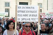 Roma 1 Ottobre 2011.Ora tocca a noi.Manifestazione nazionale di Sinistra, Ecologia, Libertà, a Piazza Navona.