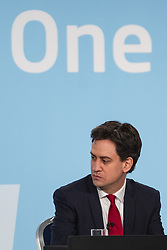 "© Licensed to London News Pictures . 01/03/2014 . London , UK . ED MILIBAND . The Labour Party hold a one day "" Special Conference "" at the Excel Centre in London today (Saturday 1st March 2014) . Photo credit : Joel Goodman/LNP"