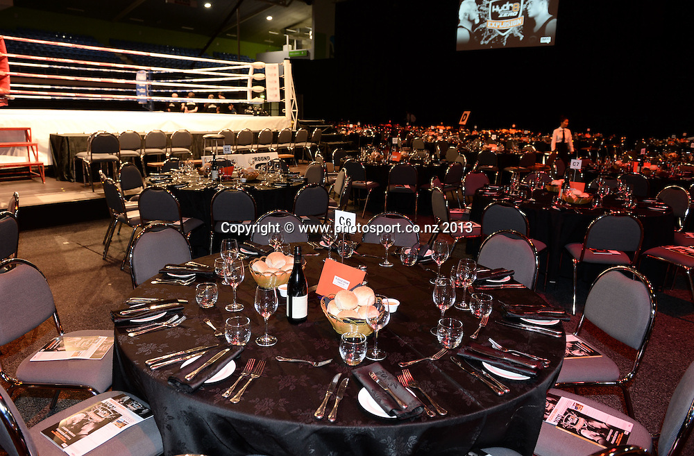 General view. Hydr8 Zero Explosion Boxing event by Duco Promotions. Trusts Stadium. Auckland, New Zealand. Thursday 13 June 2013. Photo: Andrew Cornaga /photosport.co.nz.