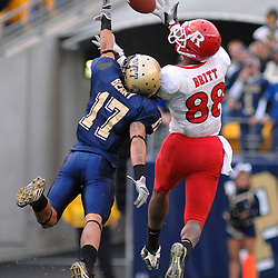 Oct 25, 2008; Pittsburgh, PA, USA; Rutgers wide receiver Kenny Britt (88) beats Pittsburgh defensive back Aaron Berry (17) for the first of several times in the game for 79-yard touchdown catch-and-run during Rutgers' 54-34 victory at Heinz Field.