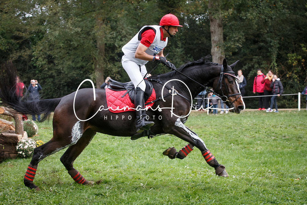 De Cleene Pieter, (BEL), Joy Chin van't Moerven<br /> Cross country<br /> Mondial du Lion - Le Lion d'Angers 2015<br /> &copy; Dirk Caremans<br /> 17/10/15