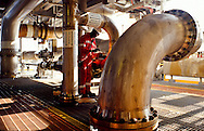 Floating production, storage and offloading (FPSO) unit processing hydrocarbons and storing oil offshore in Angola.