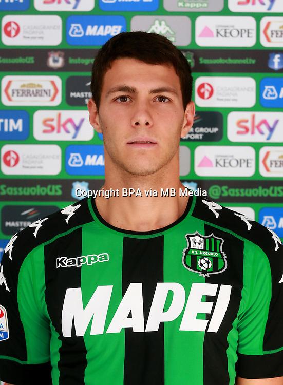 Italian League Serie A -2016-2017 / <br /> ( US Sassuolo Calcio ) - <br /> Luca Mazzitelli