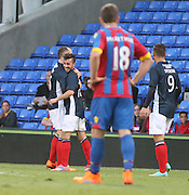 Charlie Adam congratulates Dylan Carreiroon his goal  - Crystal Palace v Dundee - Julian Speroni testimonial match at Selhurst Park<br /> <br />  - &copy; David Young - www.davidyoungphoto.co.uk - email: davidyoungphoto@gmail.com