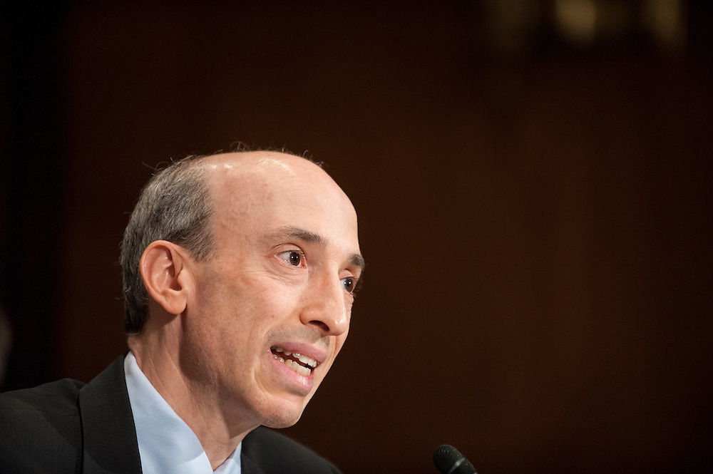 Gary Gensler, chairman of the Commodity Futures Trading Commission, testifies before the Senate Banking, Housing and Urban Affairs Committee on Tuesday on Captiol Hill. The committee held the hearing about implementing derivatives reform and reducing systemic risk and improving market oversight.