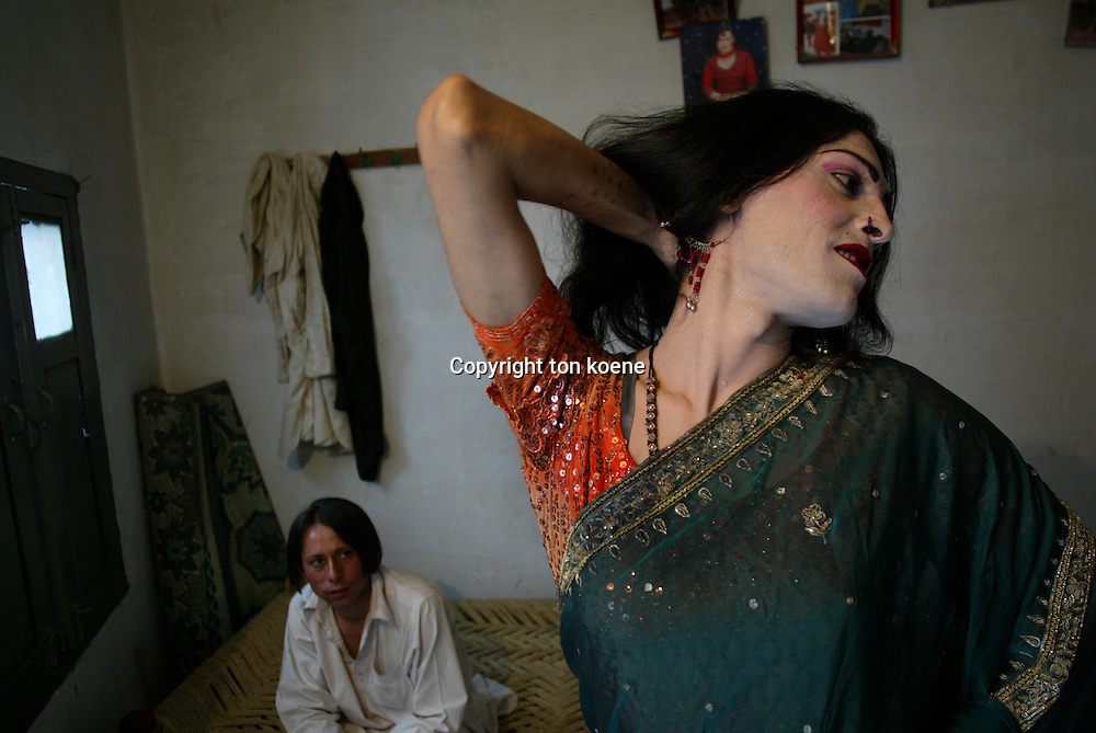 homosexuality is forbidden and illegal in pakistan. Gay men are living in communes in order to find protection from each other and the group. one manager provides protection to them and gets them out of jail when arrested. these men work as prostitutes and dancers during wedding parties as intertainment.