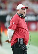 Arizona Cardinals head coach Bruce Arians looks from the sideline during the 2015 NFL preseason football game against the San Diego Chargers on Saturday, Aug. 22, 2015 in Glendale, Ariz. The Chargers won the game 22-19. (©Paul Anthony Spinelli)