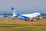Nippon Cargo Airlines, Boeing 747-400F at Malpensa (MXP / LIMC), Milan, Italy