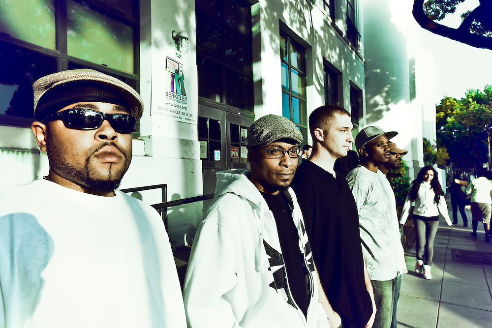 Bay Area hip hop group The Dime in Berkeley, CA.  Copyright 2009 Reid McNally.