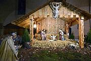 Nederland, Huissen, 14-12-2013In de grote kerk staat een traditionele kerststal.Foto: Flip Franssen