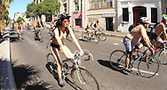 Cape Town, South Africa World Naked Bike Ride - naked and nearly naked cyclists ride though the streets of Cape Town in order to face automobile traffic with their naked bodies as the best way of defending their dignity and exposing the unique dangers faced by cyclists and pedestrians as well as the negative consequences we all face due to dependence on oil, and other forms of non-renewable energy.  Visit  www.wnbr.co.za for more details..Photo by Ron Gaunt/SPORTZPICS