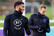 England defender Joe Gomez during the England football team training session at St George's Park National Football Centre, Burton-Upon-Trent, United Kingdom on 13 November 2019.