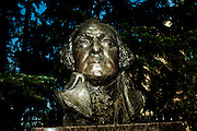 A bust of George Washington at The George Washington University, near the 'Restoring Honor' event at the Lincoln Memorial on August 28, 2010 in Washington, DC.