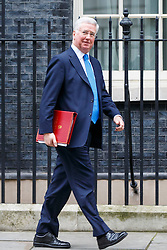 © Licensed to London News Pictures. 10/01/2017. London, UK. Defence Secretary MICHAEL FALLON attends a cabinet meeting in Downing Street on Tuesday, 10 January 2017. Photo credit: Tolga Akmen/LNP