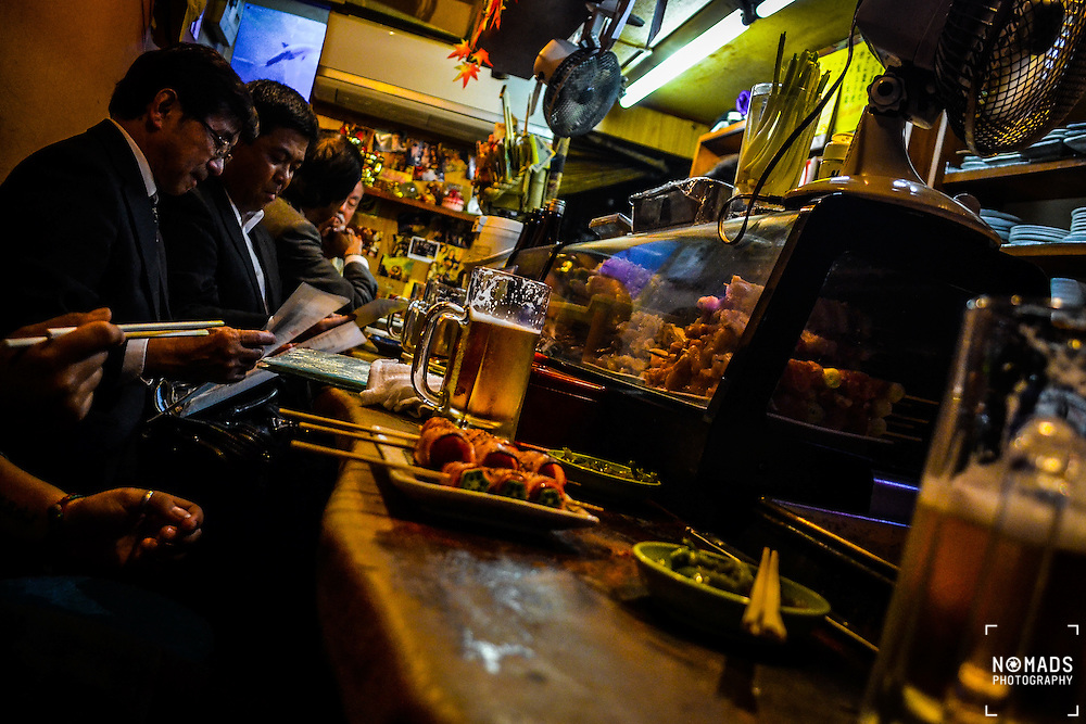 In the Shinjuku district of Tokyo there is an alleyway with a very distinctive atmosphere. <br />