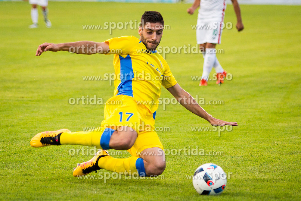 Matija Sirok of NK Domzale during football match between NK Domzale and FC Lusitanos Andorra in first match of UEFA Europa League Qualifications, on June 30, 2016 in Sports park Domzale, Domzale, Slovenia. Photo by Ziga Zupan / Sportida