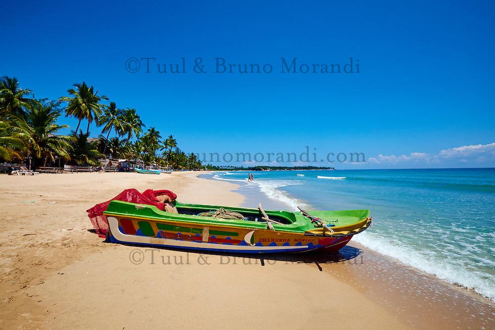 Sri Lanka, province de l'Est, Trincomalee, plage de Uppuveli // Sri Lanka, Ceylon, Eastern Province, East Coast, Trincomalee, Uppuveli beach