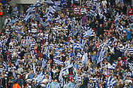 Fans of Queens Park Rangers during the Sky Bet Championship Play Off final at Wembley Stadium, London<br /> Picture by Andrew Tobin/Focus Images Ltd +44 7710 761829<br /> 24/05/2014