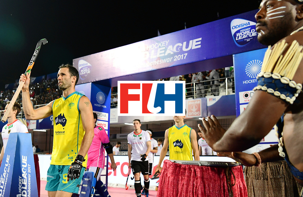 Odisha Men's Hockey World League Final Bhubaneswar 2017<br /> Match id:20<br /> Australia v Germany<br /> Foto: Line Up<br /> COPYRIGHT WORLDSPORTPICS FRANK UIJLENBROEK
