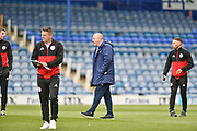 Accrington Stanley Manager, John Coleman Checks the pitch during the EFL Sky Bet League 1 match between Portsmouth and Accrington Stanley at Fratton Park, Portsmouth, England on 4 May 2019.