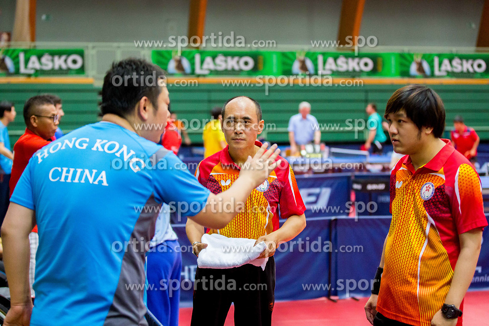 (Team HKG) LEE Ming Yip and CHEN Silu in action during 15th Slovenia Open - Thermana Lasko 2018 Table Tennis for the Disabled, on May 10, 2018 in Dvorana Tri Lilije, Lasko, Slovenia. Photo by Ziga Zupan / Sportida