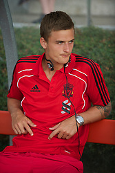 ZUG, SWITZERLAND - Wednesday, July 21, 2010: Liverpool's goalkeeper Martin Hansen before the Reds' first preseason match of the 2010/2011 season against Grasshopper Club Zurich at the Herti Stadium. (Pic by David Rawcliffe/Propaganda)