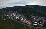 SHOT 7/1/17 9:11:54 PM - Drone photos of Park City, Utah. Park City lies east of Salt Lake City in the western state of Utah. Framed by the craggy Wasatch Range, it's bordered by the Deer Valley Resort and the huge Park City Mountain Resort, both known for their ski slopes. Utah Olympic Park, to the north, hosted the 2002 Winter Olympics and is now predominantly a training facility. In town, Main Street is lined with buildings built during a 19th-century silver mining boom. (Photo by Marc Piscotty / © 2017)