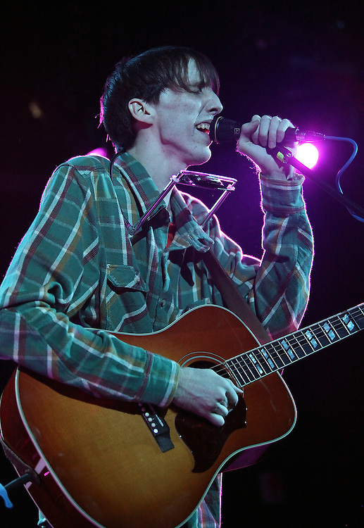 NEW YORK - OCTOBER 20:  Bradford Cox of Atlas Sound performs at the Le Poisson Rouge as part of the 2009 CMJ Music Marathon & Film Festival on October 20, 2009 in New York City.  (Photo by Roger Kisby)