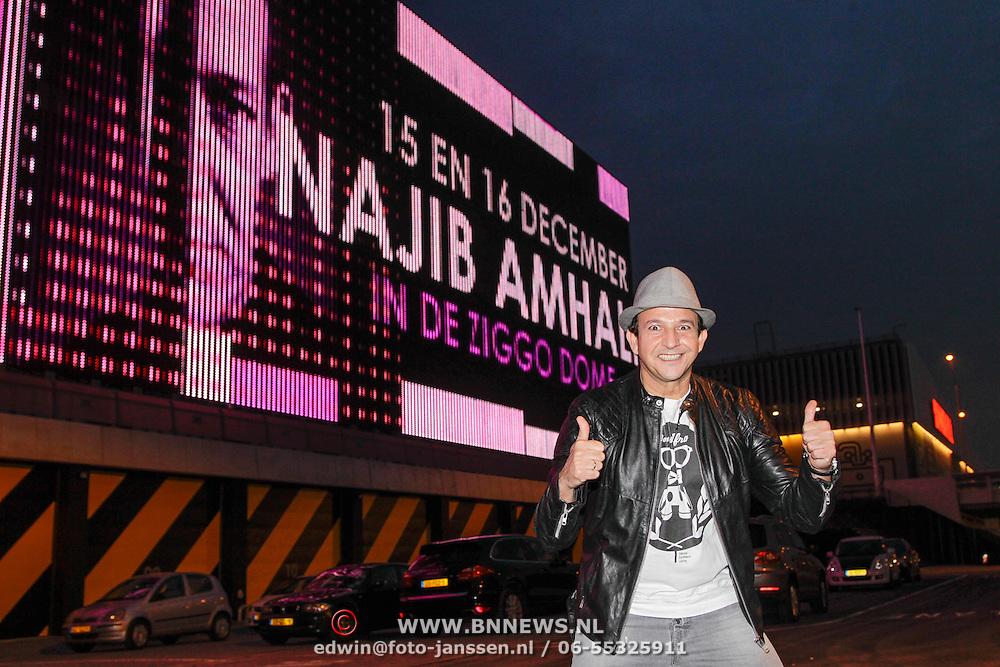 NLD/Amsterdam/20121023 - Najib Amhali kondigt optreden aan in de Ziggo Dome Amsterdam aan, Najib Amhali bij de aankondiging van het Ziggo Dome