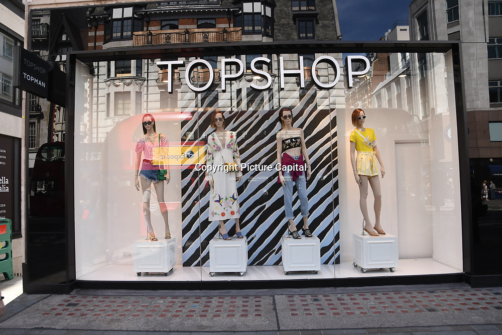 Topshop in Charing Cross road on August 4 2018, London, UK